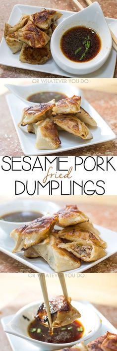 Fried Sesame Pork Dumplings