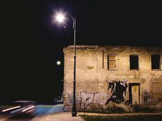 #abandoned #alley #bialystok #car #city #dark #light #motion #night #ruin #scary #street #weird