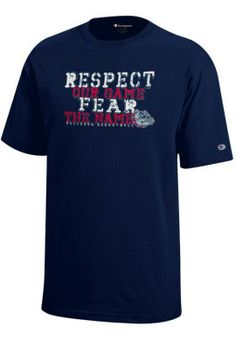 Gonzaga University Respect Our Game Fear the Name Bulldogs Basketball Youth T-Shirt Wrestling Posters, Basketball Posters, Basketball Shirts, College Basketball, Bulldogs Basketball, Pep Club, Gonzaga Basketball, Gonzaga University, School Spirit Shirts
