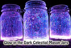 Glow in the Dark Celestial Mason Jars
