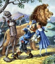 QS Wizard of Oz, by Scott Gustafson. Finished cross-stitch. Worked on 28-count evenweave, one full cross over one thread.