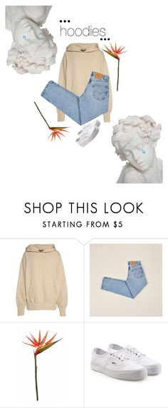 """""""hood rat"""" by jackiesfashion ❤ liked on Polyvore featuring Yeezy by Kanye West, Levi's, Vans, Hoodies and polyvorecontest"""