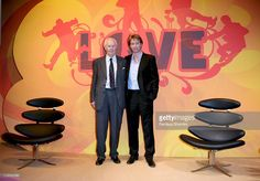 Sir George Martin and son Giles Martin during The Beatles 'LOVE' Album - Photocall at Abbey Road in London, Great Britain. The Beatles Love Album, Sir George Martin, Abbey Road, Love S, Great Britain, Stock Photos, London, Pictures, Photos