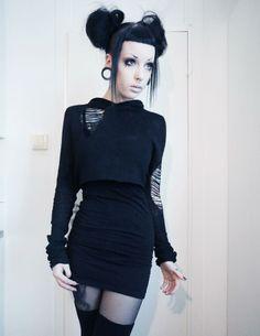 Murderotic. Grungy black goth alterntative fashion.