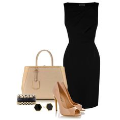 A fashion look from May 2013 featuring Karen Millen dresses, Timeless pumps and Fendi tote bags. Browse and shop related looks.
