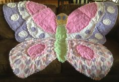 flannel butterfly ragquilt