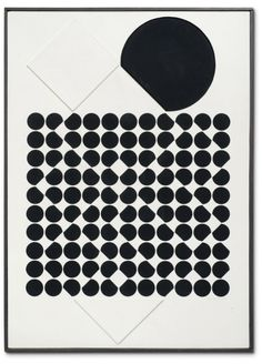 artsyloch:  Victor Vasarely| Cassiopée  titled and dated 1957/1960 on the reverse painted relief on panel in artists frame 83.3 by 59.2 cm. 32  by 23  in.  #art #abstract #minimal #geometric