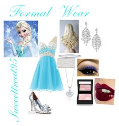 Elsa Formal Wear by sweeettreat95 on Polyvore featuring polyvore moda style Judith Leiber Roberto Coin BERRICLE Charlotte Tilbury Givenchy fashion clothing frozen elsa