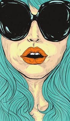 Image by Linus Nyström - Illustration from Sweden Pop Art, Sketch Manga, Arte Sketchbook, Retro, Art Inspo, Comic Art, Art Drawings, Art Photography, Street Art
