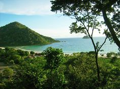 Pristine: Selong Belanak beach seen from a hill nearby reveals a refreshing azure water and greeneries. (JP/Tifa Asriant...