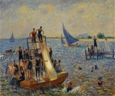 William James Glackens (American: 1870–1938) - The Raft (1915)