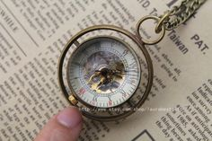 Mechanical Pocket Watch the harry potter jewelry time turner  necklace Steampunk mens Jewelry. $15.00, via Etsy.