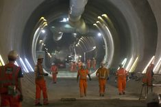 The completed Crossrail network will include 19 miles of tunnels.