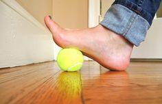 Balle sous le pied
