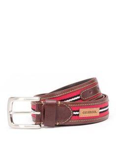 Jack Mason Brown Georgia Tailgate Belt