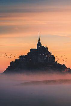 Mont Saint-Michel, mystic sunrise