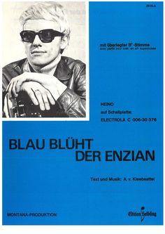 HEINO - BLAU BLÜHT DER ENZIAN - 1972 - SCHLAGER - ORIG. MUSIKNOTE