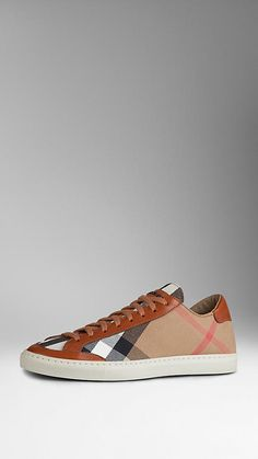 House Check Canvas Trainers | Burberry