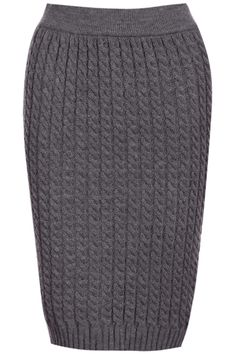 ROMWE | Knitted Grey Bodycon Skirt, The Latest Street Fashion