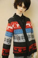 Sd roupa da boneca bjd Sd 1/3 boneca elisabetanos casaco de malha cardigan masculino(China (Mainland))