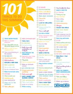 + 101 things to do this summer