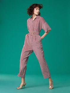 b536923273c Short-Sleeve Pocket Jumpsuit