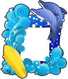 Dibujos para colorear de animales marinos, dibujos coloreados y fotos de todos los animales bajo el mar Borders And Frames, Summer Crafts, Craft Activities, Classroom Decor, Smurfs, Clip Art, Fictional Characters, Class Room, Ideas
