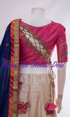 Product InformationColor :off whiteFabric :silk skirt length 41 inch. any query call/whatsapp : 407 7419 Saree Blouse Neck Designs, Fancy Blouse Designs, Bridal Blouse Designs, Designs For Dresses, Stylish Blouse Design, Designer Blouse Patterns, Dress Patterns, Bridal Dresses, Silk Skirt