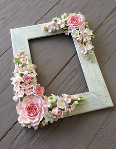 Items similar to Wedding frame for wedding photo. deposit payment on Etsy Frame for wedding photo If the item is marked as Make to order, then it means the item is currently Picture Frame Crafts, Picture Frames, Diy Home Crafts, Crafts For Kids, Deco Floral, Polymer Clay Flowers, Wedding Frames, Wedding Photos, Flower Wall