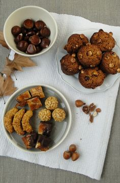 """On the 1st of November Catalan people celebrate """"La Castanyada"""". We eat roast chestnuts (castanya in Catalan) and Panellets (an assortment of small pieces made with marzipan as a base). #Catalonia"""