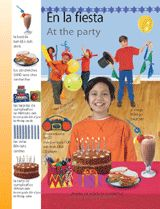 At the Party (En la fiesta) themed vocabulary -- These Spanish vocabulary handouts include illustrations, Spanish pronunciation, and English translations for items students would find at a party.    Get the printables from TeacherVision: http://www.teachervision.fen.com/spanish-language/printable/70416.html