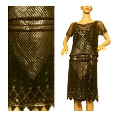 1920s Assuit flapper dress. Art Deco Egyptian by 21stCenturyVamp