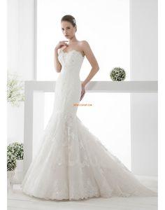 Herz-Ausschnitt Frühling Empire Brautkleider 2014