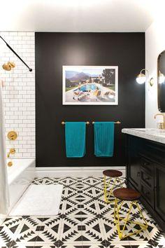 Luxury Black and White Bathroom Ideas 95