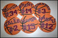 basketball magnets...or surround with white border for an autograph memory maker