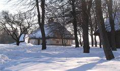 Украинская зима. Солнечный день ( этнографический музей Пирогово)
