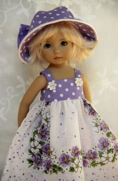 "Simpler Times ~ OOAK Outfit for Effner 13"" Little Darling ~ by Glorias Garden"