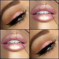 Phenomenal Baby Pink Glossy Lips And Eye Makeup