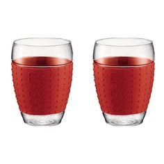 Bodum Pavina Glas 0,45 L Set van 2 - Rood