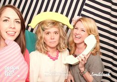 jen gotch's hair is always amazing. even with a banana on her head. (from the deisgnlovefest/splendid smilebooth)