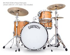 Broadkaster Series Drums & Drum Sets (Gretsch Drums) Sizes, Colors, Features and Photos