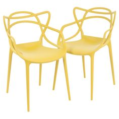 Sculptural indoor/outdoor side chair designed by Philippe Starck. Made in Italy.   Product: ChairConstruction Materia...