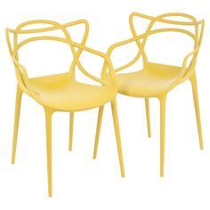 mobilier aussi beau et pratique dedans que dehors  (Kartell Masters Indoor/Outdoor Side Chair by Starck)