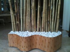 Finished product. I added the rocks and three lights behind the bamboo for added flair.