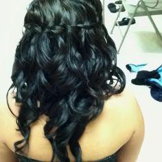 Nikki's hair for the wedding!!