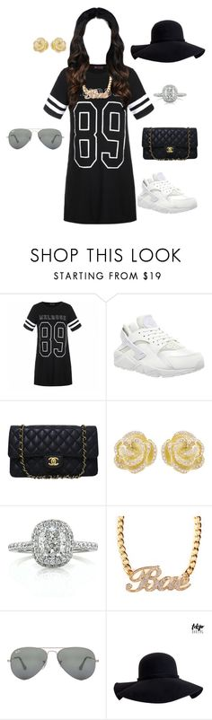 """""""Untitled #72"""" by shinasha on Polyvore featuring Ally Fashion, NIKE, Chanel, Effy Jewelry, Mark Broumand, Ray-Ban and Aéropostale"""