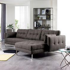 Paris right hand corner sofa dark grey