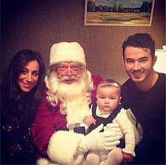 Kevin & Danielle Jonas Beautiful Baby Girl Meets Santa For First Time