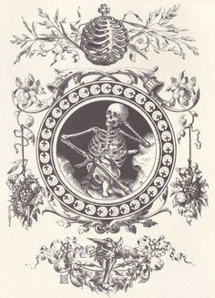 Victorian Woodblock Illustrators Skeleton
