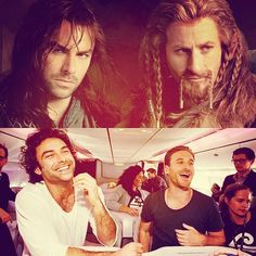Kili & Fili - The Hobbit.  Never thought I would be crushing on dwarves, thanks to who ever was in charge of casting for The Hobbit.
